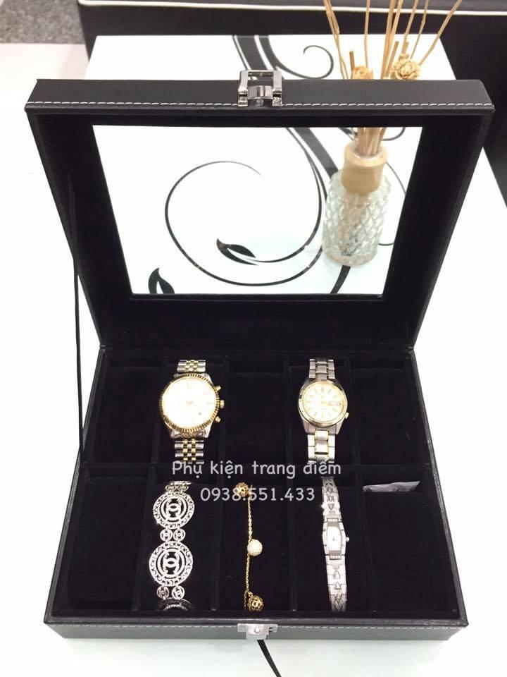 hộp đựng đồng hồ lót nhung đen đẹp giá rẻ tại tphcm