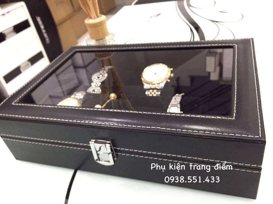 hộp để 12 đồng hồ màu đen
