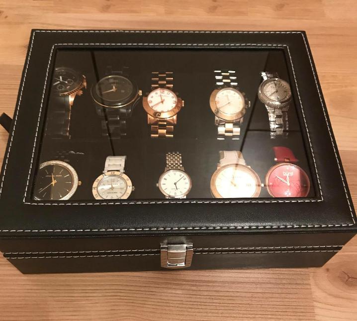 hộp đựng đồng hồ lót nhung màu đen giá rẻ