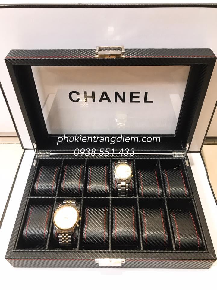 hộp đựng đồng hồ 12 chiếc da cacbon cao cấp giá rẻ