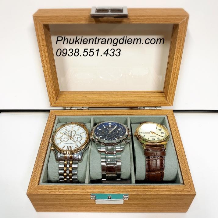 hộp đựng đồng hồ bằng gỗ 3 chiếc
