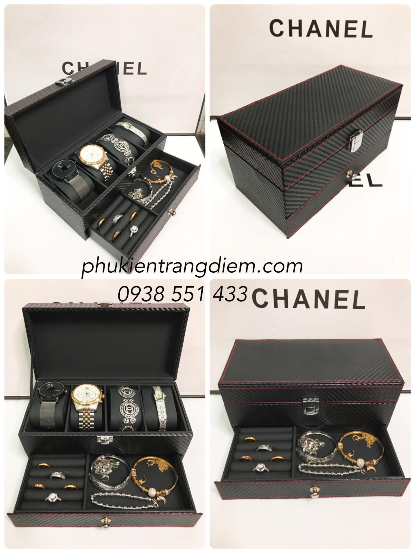 bán hộp đựng 4 đồng hồ và trang sức nhỏ gọn giá rẻ
