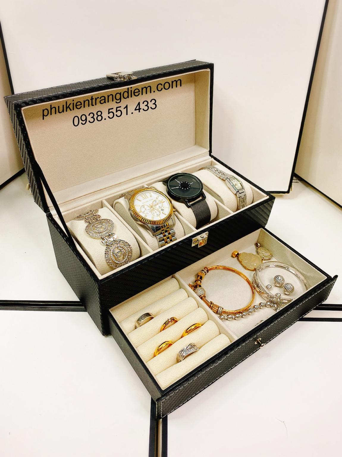 hộp đựng đồng hồ trang sức nhỏ gọn