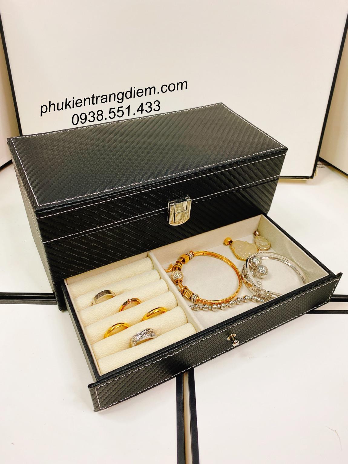 hộp đựng đồng hồ và trang sức nhỏ gọn