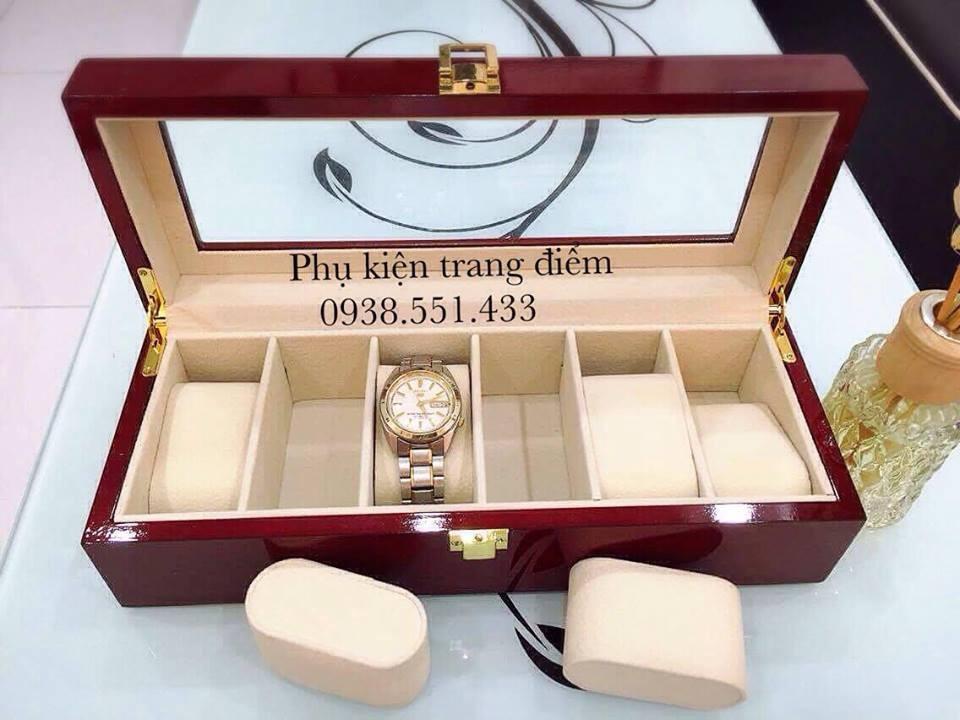 hộp đồng hồ bằng gỗ sơn mài