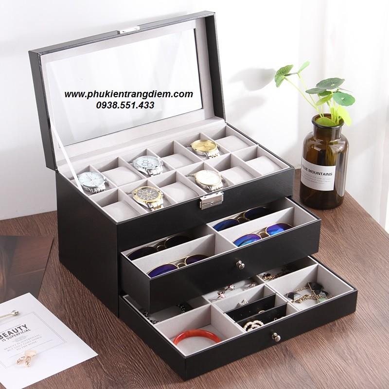 hộp đựng đồng hồ , trang sức và mắt kính