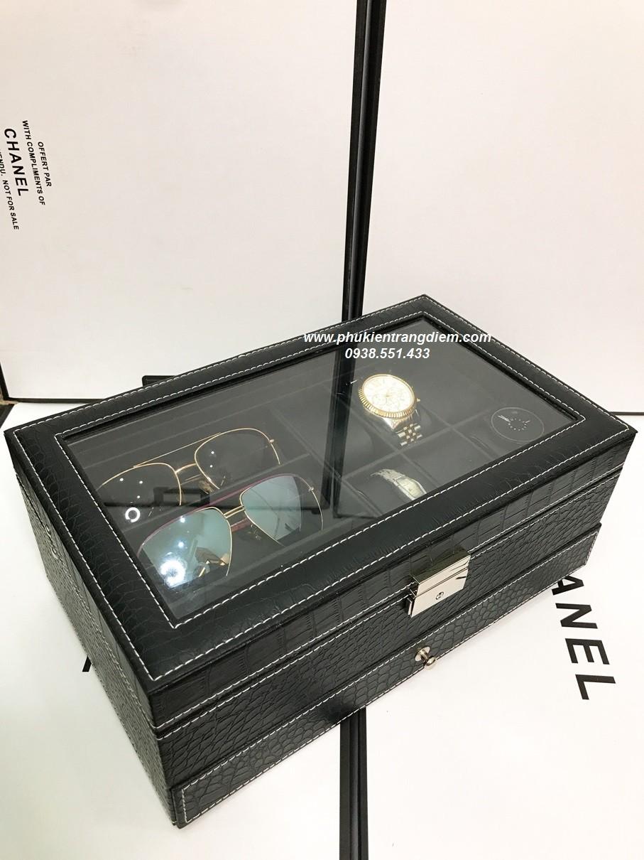 bán hộp đựng đồng hồ và trang sức 2 tầng giá rẻ tại tphcm