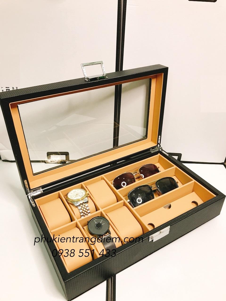 hộp đựng đồng hồ và kính cao cấp