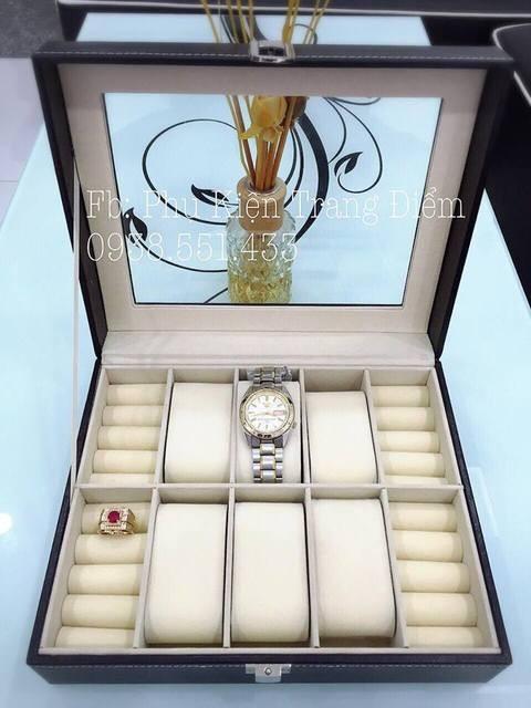 Hộp đựng đồng hồ và nhẫn trang sức giá rẻ hcm