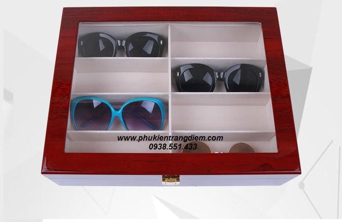 bán hộp đựng mắt kính bằng gỗ nhiều ngăn sang trọng giá rẻ