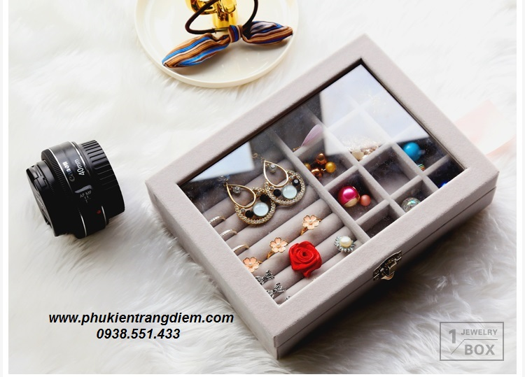 bán hộp đựng phụ kiện trang sức nhẫn bông tai giá rẻ