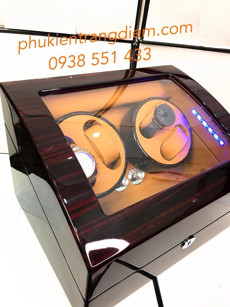 hộp xoay đồng hồ cơ có đèn led