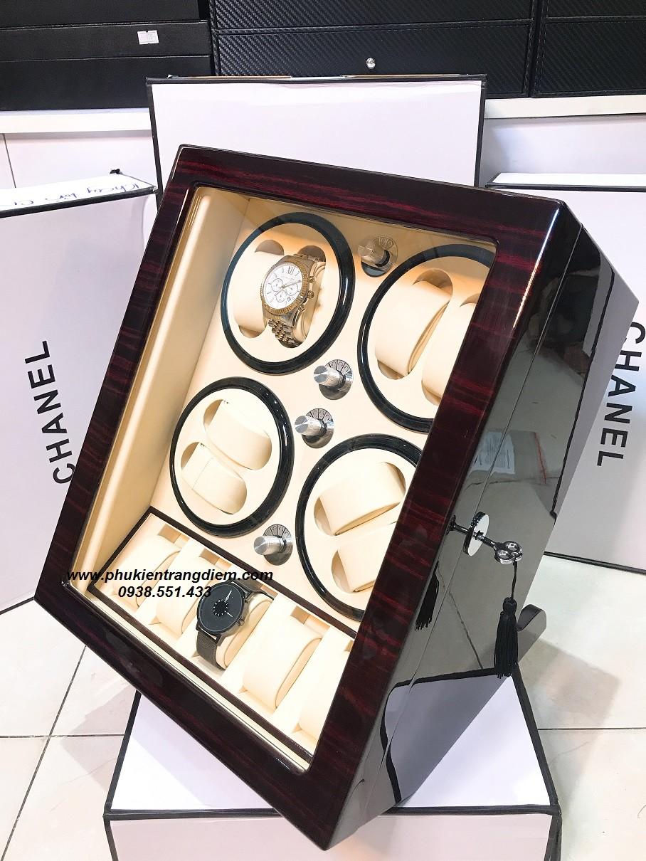 hộp lắc đồng hồ cơ xoay 8 chiếc cao cấp giá rẻ