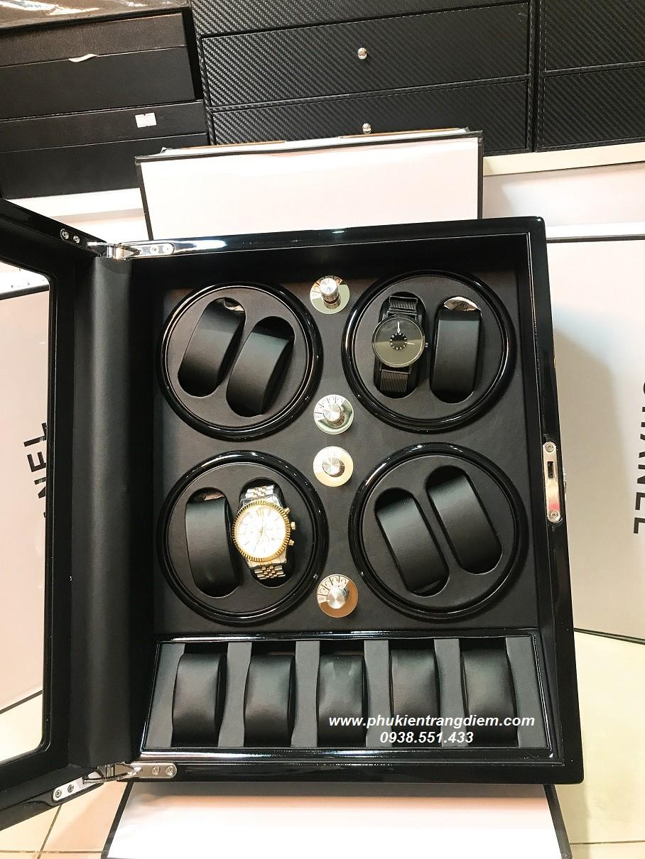 bán hộp xoay đồng hồ cơ lắc tự động 8 chiếc cao cấp giá rẻ