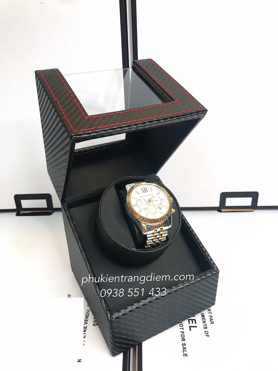 hộp lắc đồng hồ cơ tự động xoay 1 ngăn giá rẻ