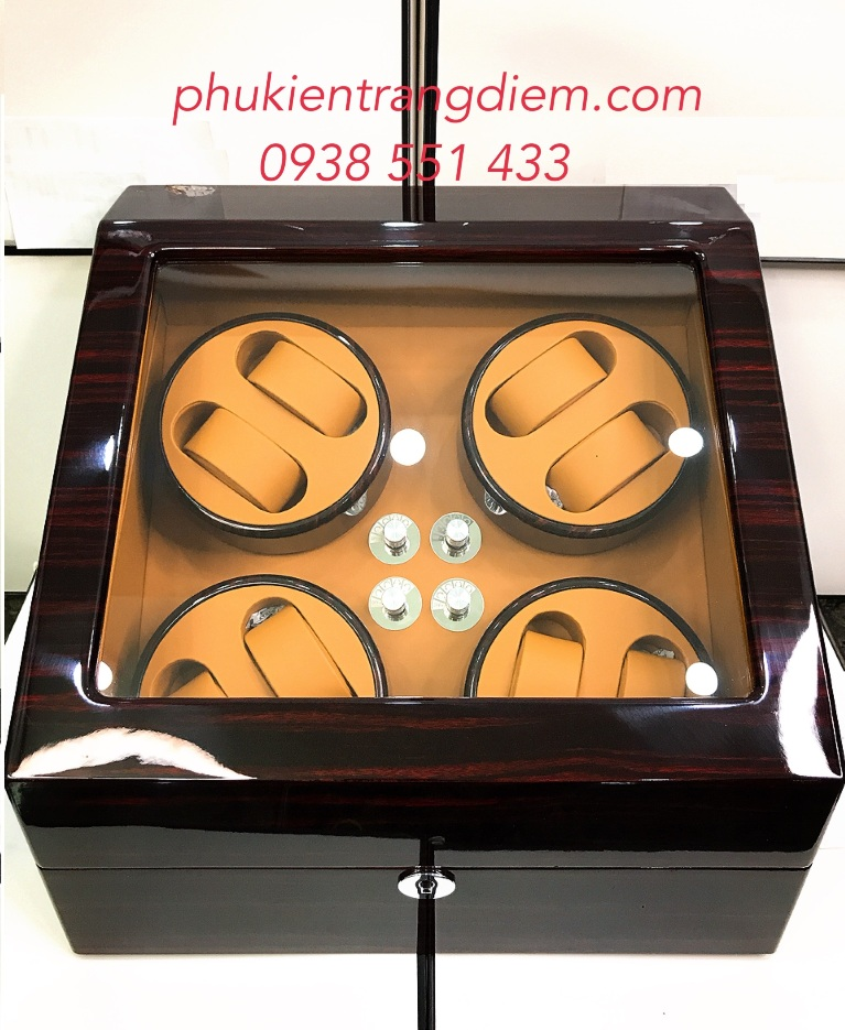 hộp lắc đựng đồng hồ cơ tự động xoay 8 ngăn