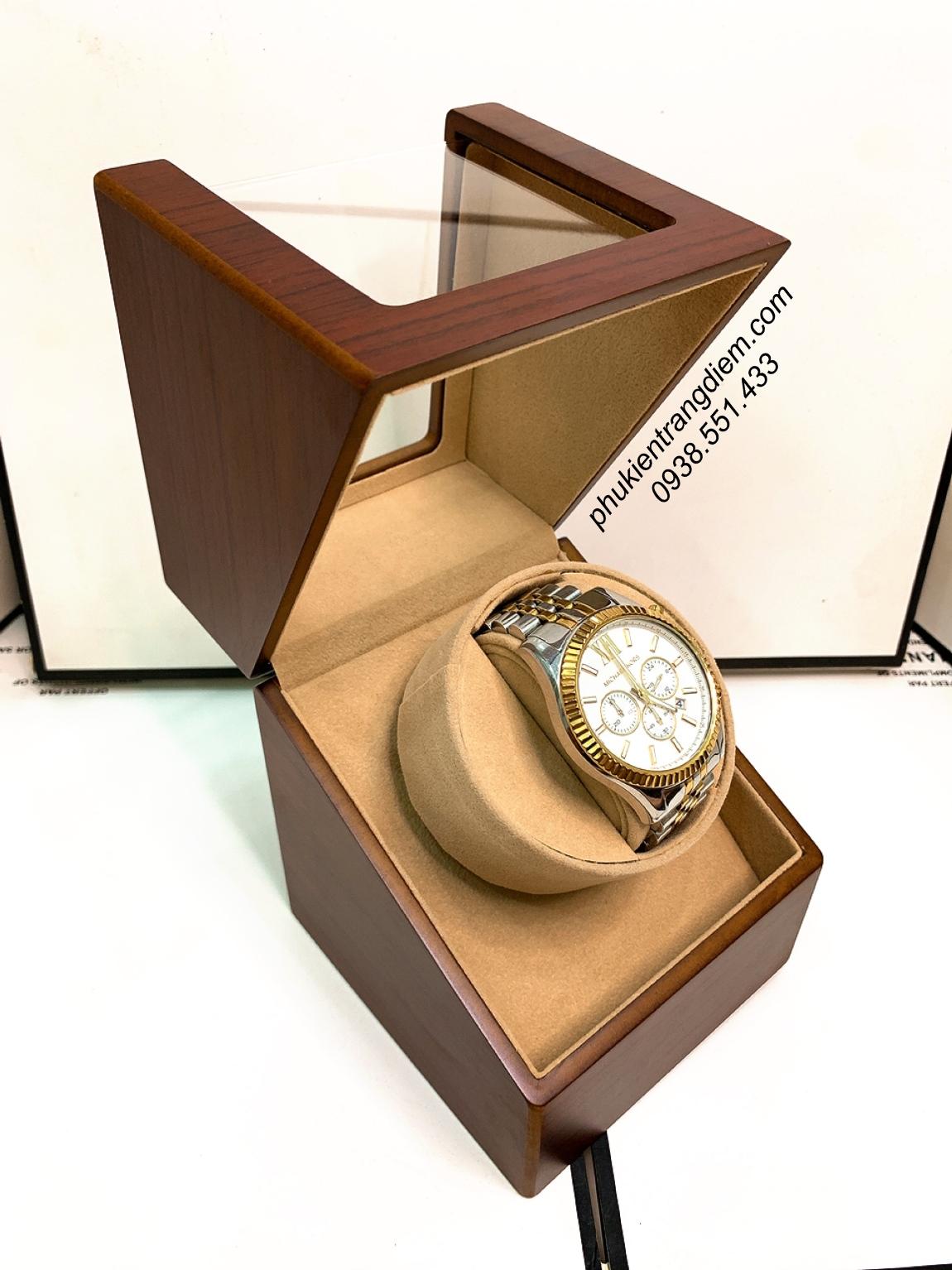 hộp xoay lắc đồng hồ cơ tự động 1 ngăn