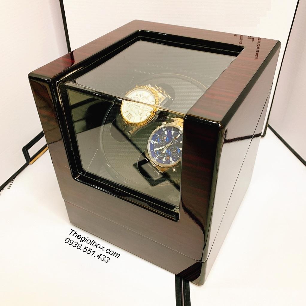 hộp dưỡng nuôi cơ trữ cót lên dây đồng hồ cơ tự xoay