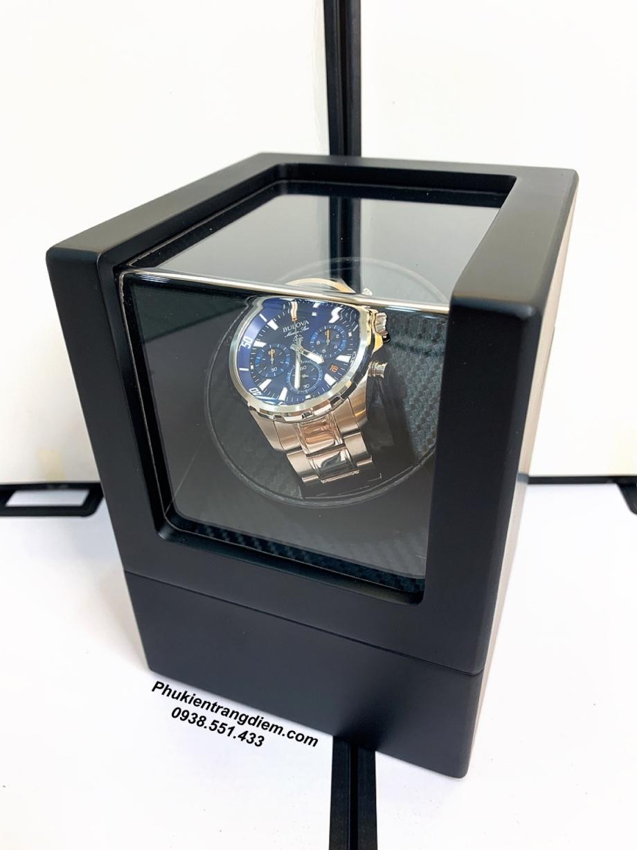 hộp xoay tích cót đồng hồ cơ lên dây 1 ngăn cao cấp giá rẻ