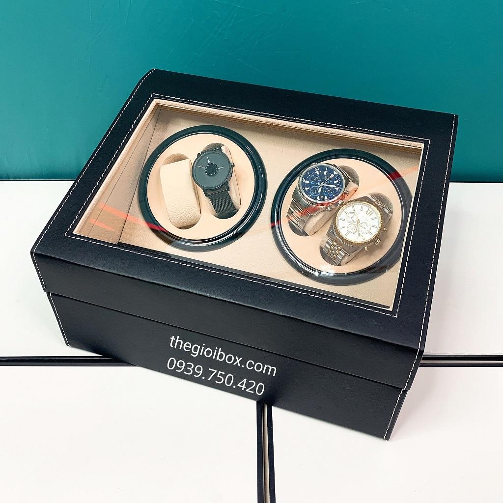 hộp xoay đồng hồ cơ 4 ngăn xoay tự động giá rẻ