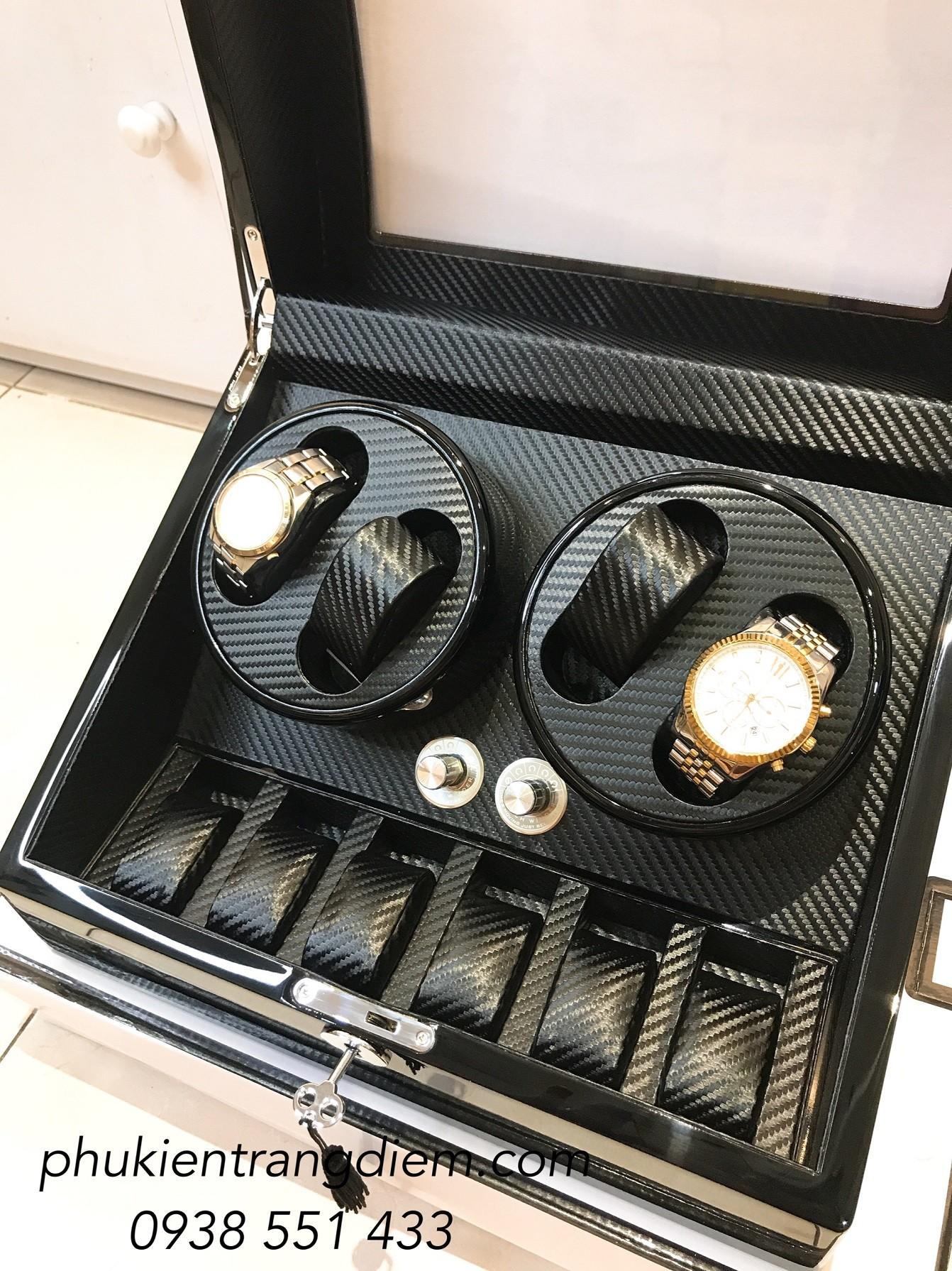 hộp xoay đồng hồ nhiều chế độ tự động 4 ngăn xoay tphcm
