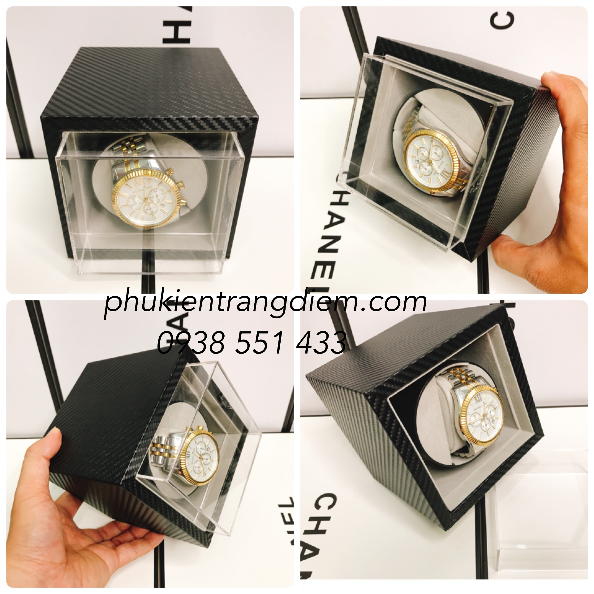 bán hộp xoay lắc đồng hồ cơ giá rẻ