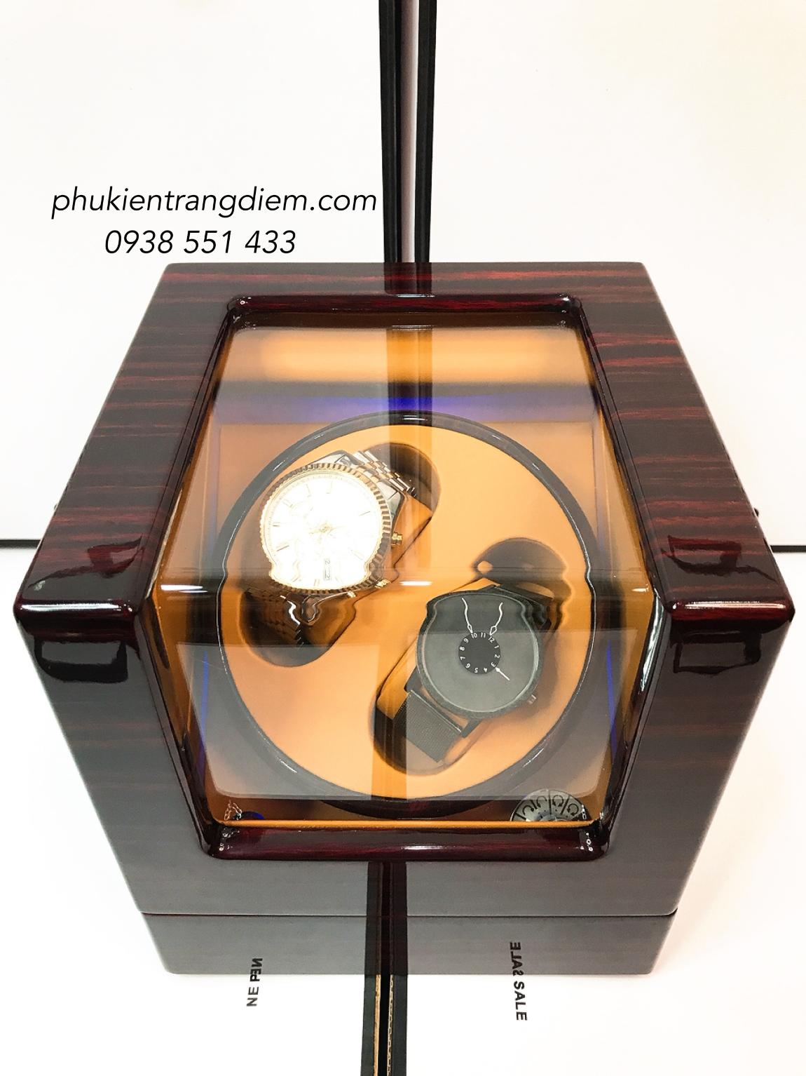 hộp lắc đồng hồ cơ có đèn led