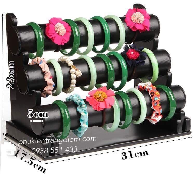 bán kệ treo vòng tay trang sức 3 tầng cao cấp giá rẻ