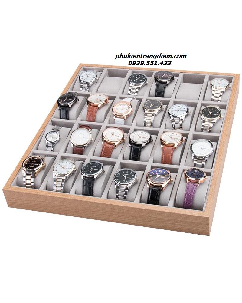 khay để trưng bày đồng hồ đeo tay tại shop 24 ngăn giá rẻ