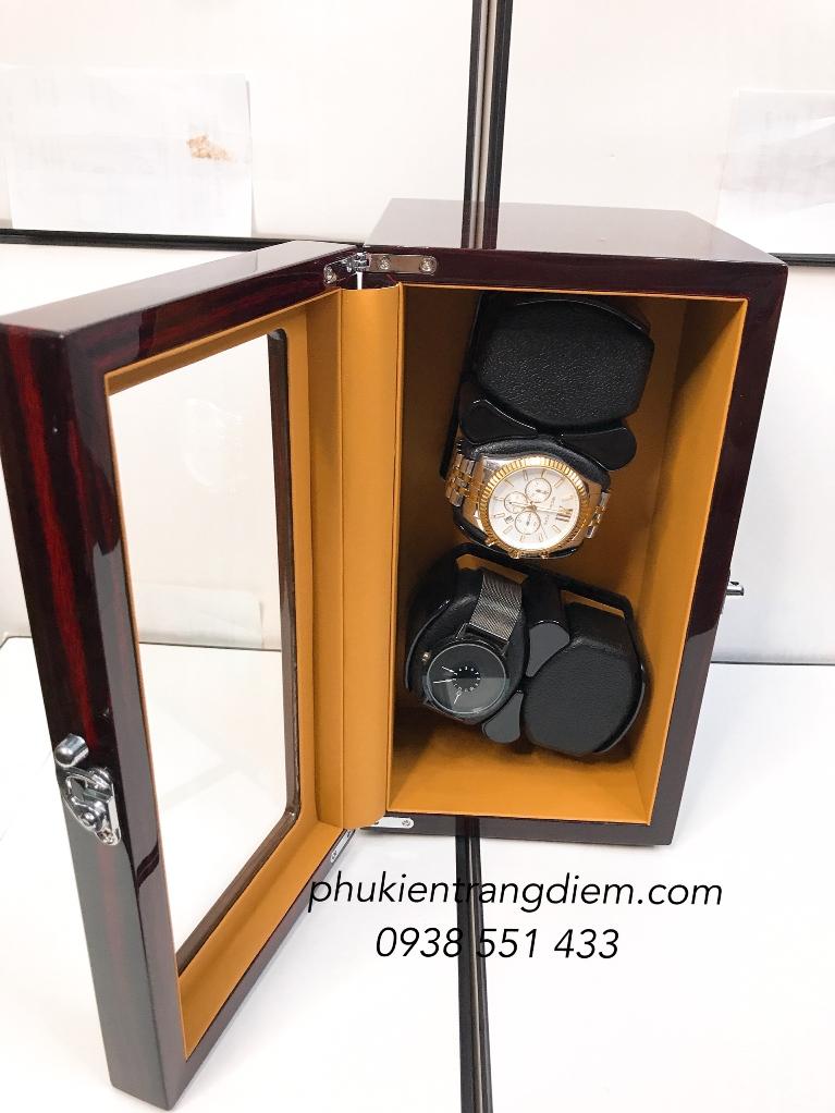 tủ hộp lắc đồng hồ tự động 4 ngăn xoay