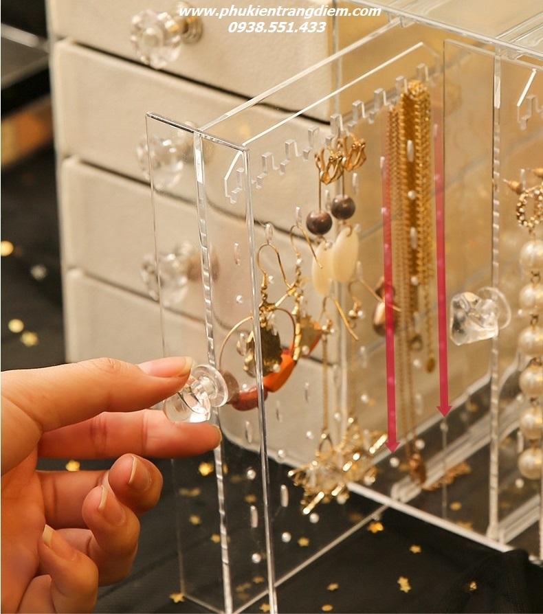 tủ hộp kệ treo trang sức bông tai khuyên tai đẹp giá rẻ