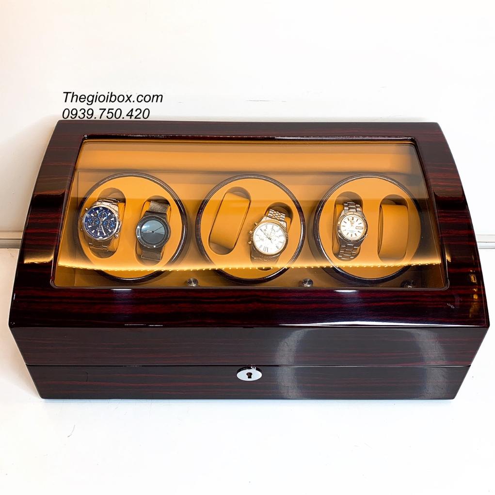 tủ hộp xoay 6 đồng hồ cơ có đèn nội thất cao cấp giá rẻ