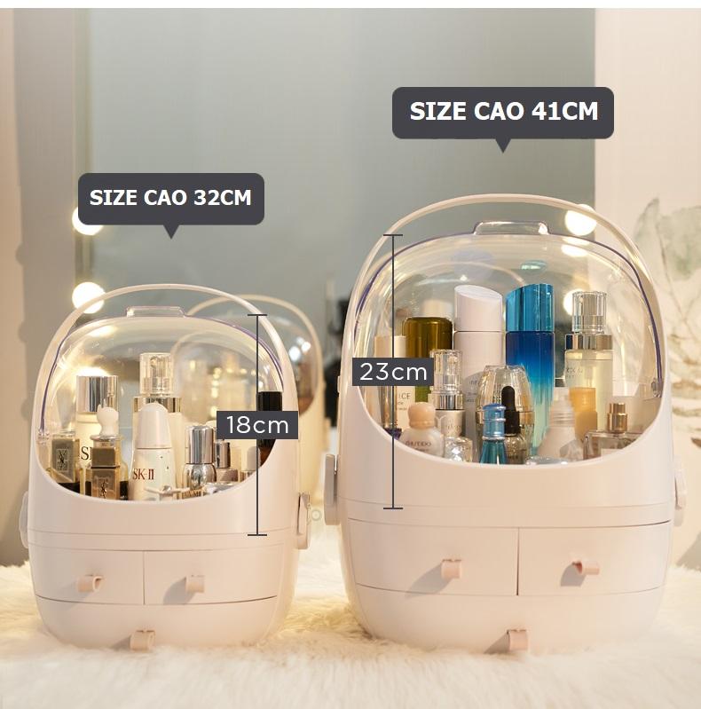hộp khay đựng mỹ phẩm nước hoa có nắp chống bụi giá rẻ