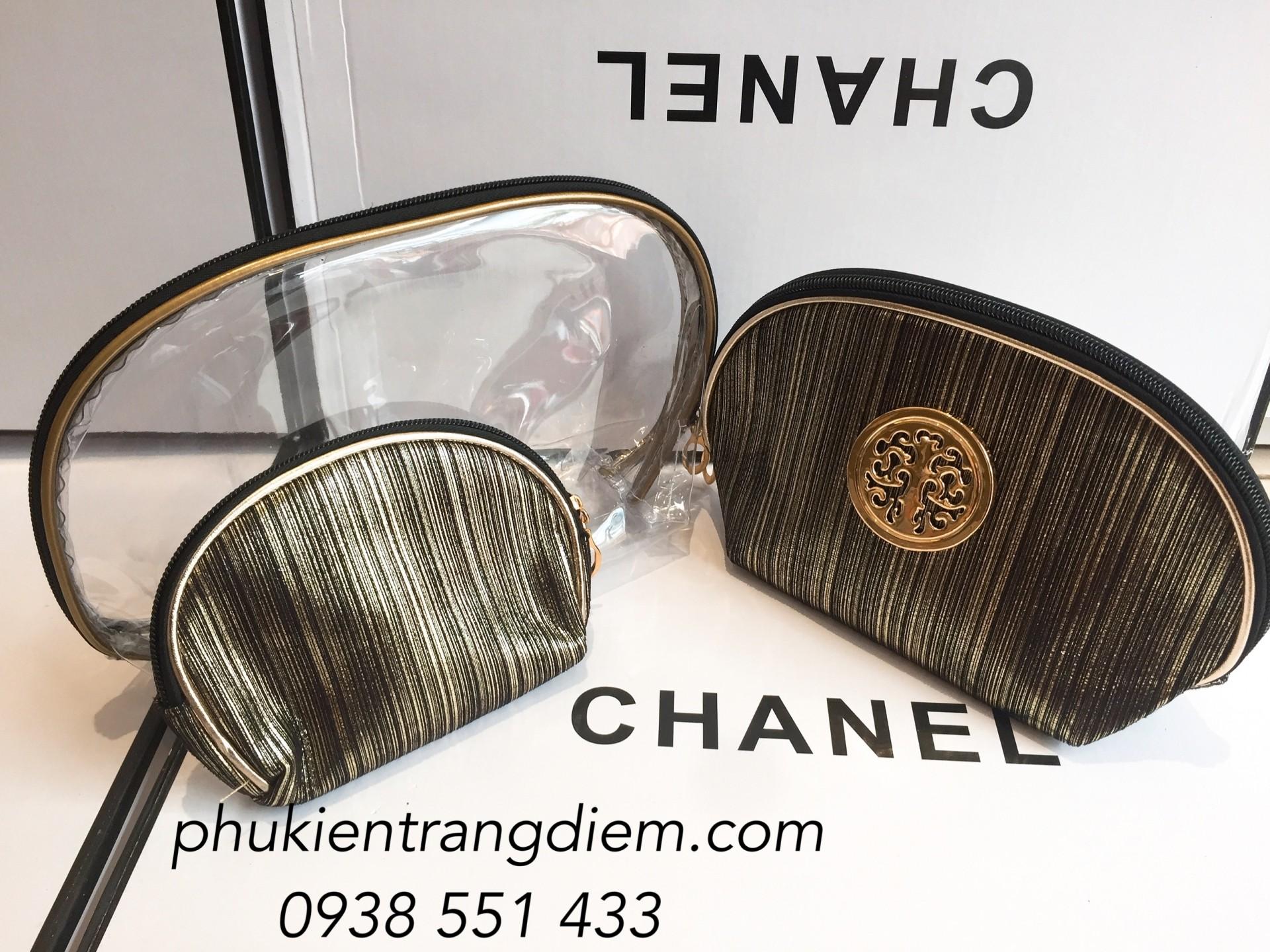 bộ bóp túi đựng mỹ phẩm trang điểm cao cấp giá rẻ