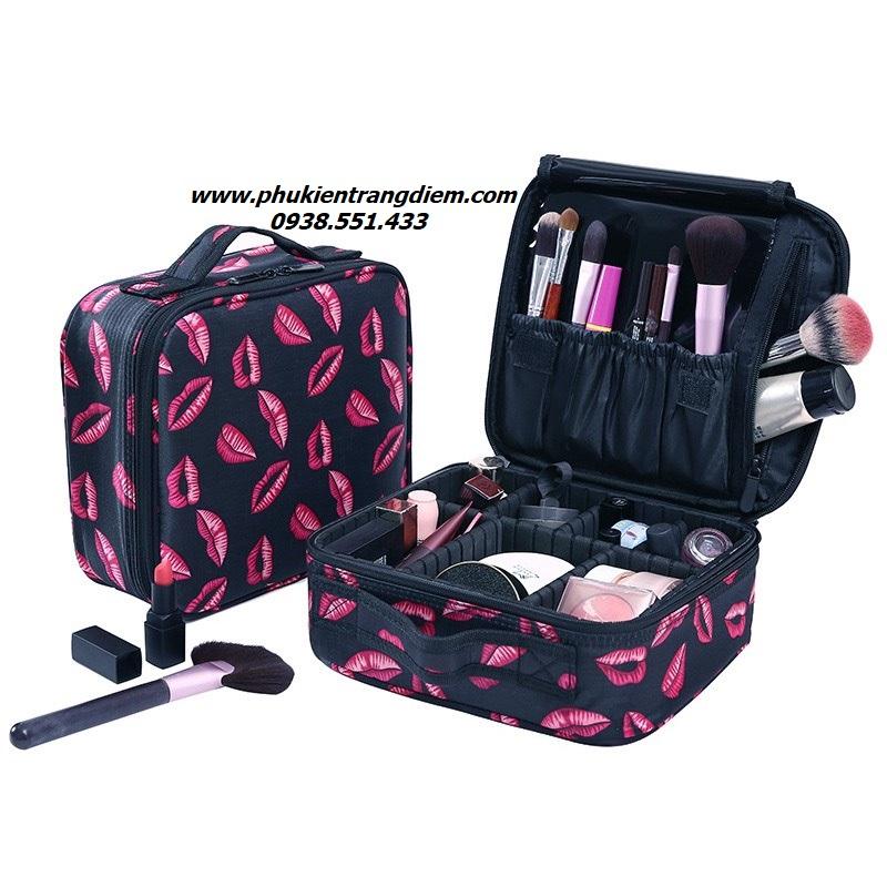 túi đựng mỹ phẩm trang điểm cá nhân du lịch kiss me
